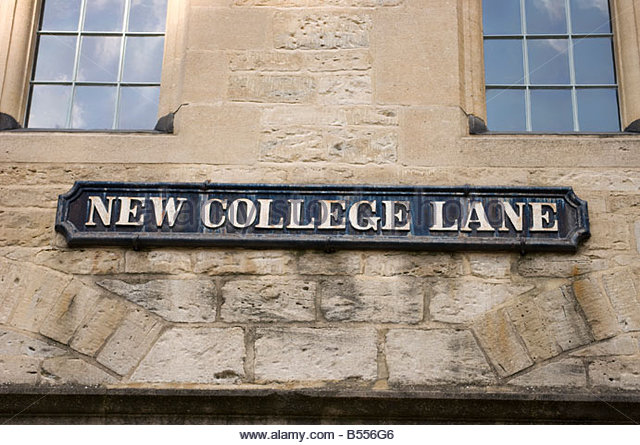 street-sign-in-new-college-lane-in-oxford-b556g6
